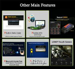 1Pcs Car Bluetooth Stereo Radio GPS Navigation Wifi MP5 Player Kit withRear Camera
