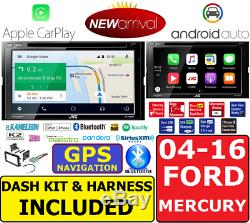 2004-2016 Ford F & E Series Jvc Navigation Apple Carplay Android Auto Car Stereo