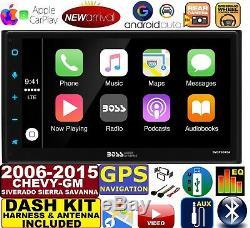 2006-15 Chevy Gmc Gps Navigation Bluetooth Apple Carplay Android Auto Car Stereo