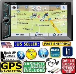 2006-2015 CHEVY GMC SILVERADO SIERRA SAVANA GPS NAVIGATION Bluetooth Car Stereo