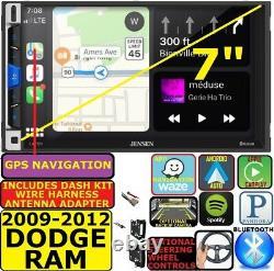 2009-12 Dodge Ram Gps Nav Apple Carplay Android Auto Bluetooth Car Stereo Radio