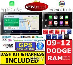 2009-2012 Dodge Ram Jvc Kenwood Gps Navigation Carplay Android Auto Car Stereo