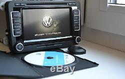 2019 VW RNS510 MFD3 GPS navigation system LED screen V15 MAPS HDD 40GB RNS 510