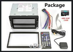 2Din GPS Navigation HD Car Stereo DVD CD Player Bluetooth Radio iPod8G Map Card