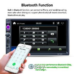 2Din TFT Touchscreen Car GPS Navigation MP5 MP3 AM/FM Bluetooth Radio Player Kit