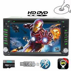 2 DIN 6.20Inch DVD/CD Player Bluetooth Stereo Radio iPod GPS Navigation