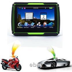 4.3 Bluetooth Car Motorcycle GPS Navigation Waterproof Motorbike SAT NAV + Maps