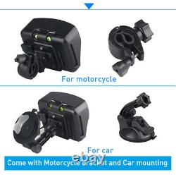 4.3 Motorcycle GPS Navigation Car Truck Bluetooth SAT NAV + Free Map Waterproof