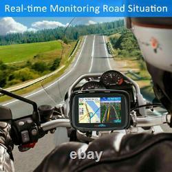 5 Android 6.0 Motorrad Auto GPS Navigationsgerät Bluetooth Navi Europa Karte