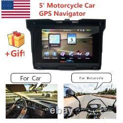5 Motorcycle Car GPS Bluetooth Navigator 8GB Waterproof Navigation SAT NAV Maps