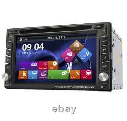 6.2'' 2Din 7 Colors Car Stereo DVD CD Player FM Bluetooth Radio GPS Navigation