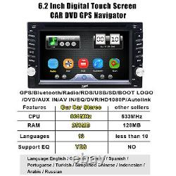 6.2 Car STEREO DVD CD BLUETOOTH WITH BACK UP CAMERA GPS NAVIGATION MAP PLAYER