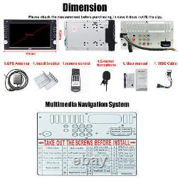 6.2 Double 2Din Car CD DVD Player GPS Navigation Radio Stereo Bluetooth Camera