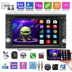 6.2in 2Din Android 9.0 Bluetooth Car Stereo DVD Player WIFI Radio GPS Navigation