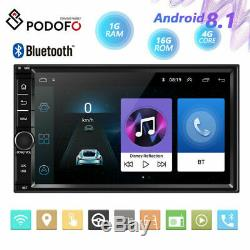 7In 2Din Android 8.1 4-core Bluetooth Car Radio Stereo GPS Navigation MP5 Player