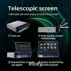 7 1DIN Multimedia Receiver with CarPlay Flip-Up Touch-Screen Built-in Bluetooth