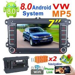 7 2 Din Car Stereo GPS Sat Navigation Player MP5 Bluetooth Fits GOLF 5 V PASSAT