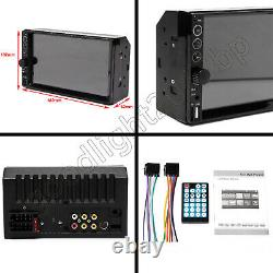 7 Double 2DIN Car Stereo Radio MP5 Indash Camera Mirror Link For GPS Navigation