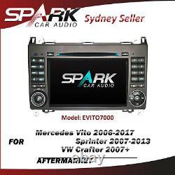 7 Gps Sat Nav DVD Bluetooth Navigation Radio For Mercedes Vito Sprinter