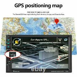 7 HD Car Stereo Radio 2 Din Mp3 Mp5 Player GPS Navigation Bluetooth Usb Audio