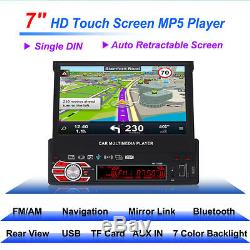 7 Touch Car GPS Navigation Bluetooth AM/FM stereo Radio Steering Wheel Control