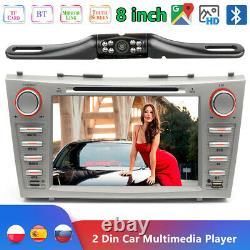 8 Car GPS Stereo CD DVD Navigation Radio Bluetooth For Toyota Camry 2007-2011