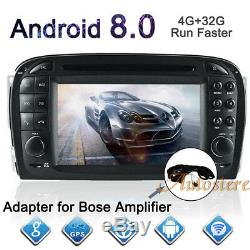 8 Core Android 8.0 Car GPS Navigation DVD Player For Mercedes Benz SL R230 SL500