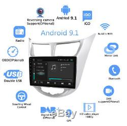 9 Android 9.1 Stereo Radio MP5 GPS Navigation Wifi For Hyundai Accent 2010-2016