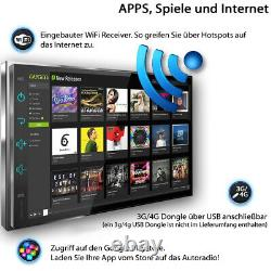 AUTORADIO Android 10 mit GPS BLUETOOTH DAB+ Navi Doppel 2DIN Navigation MP3 USB