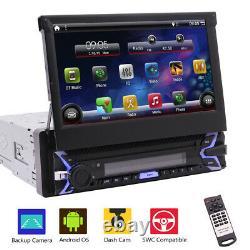 Android 10.0 7 Screen Single 1Din Car Stereo GPS Navigation Bluetooth FM Radio