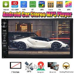 Android 7inch Car Stereo GPS Navigation Bluetooth Radio Player Double 2Din WIFI