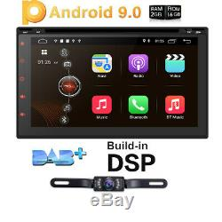 Android 9.0 WIFI 7 Double DIN Car Radio Stereo DVD Player GPS Navigation+Camera