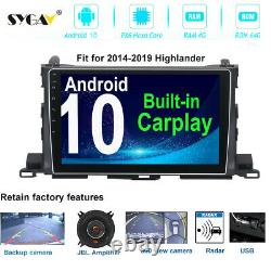 Android Car Radio Stereo for Toyota Highlander Carplay Bluetooth GPS Navigation