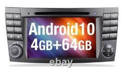 Autoradio Android 10 für Mercedes E W211 Navigation GPS DAB DVD MP3 USB SD