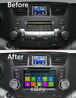 Bluetooth DVD Navigation GPS Touchscreen Radio for Toyota Highlander 2008 2012