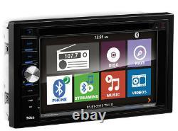 Boss BV9384NV 6.2 Double 2 Din Car DVD/CD MP3 Bluetooth Receiver GPS Navigation