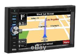 Boss BV960NV Double DIN Bluetooth DVD GPS Navigation Car Stereo 6.2 Touchscreen