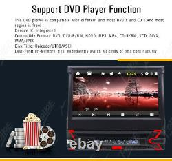 Car 1-Din Dvd Cd Bluetooth Stereo 7 Touch Screen Flip Out GPS Navigation+Camera