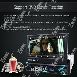 Car 1-Din Dvd Cd Bluetooth Stereo 7 Touch Screen Flip Out GPS Navigation DAB+SD