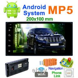 Car Radio Stereo 2Din GPS Navigation 7 Touch Screen Bluetooth Head Unit in Dash