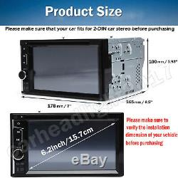 Car Stereo Bluetooth Radio 2 Din CD DVD Player MirrorLink For GPS Navigation+Cam