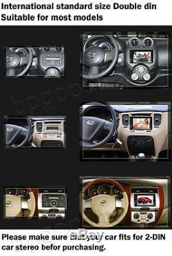 Car Stereo Bluetooth Radio 2 Din CD DVD Player MirrorLink For GPS Navigation+Cam