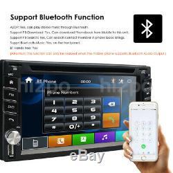 Car Stereo GPS Navigation Bluetooth Radio Double 2 Din 6.2 CD DVD Player Camera