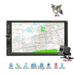 Car Stereo Radio Bluetooth GPS Navigation 7 Mp5 Audio HD Player AUX 2 Din Usb