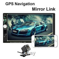 Car Stereo Radio GPS Navigation 7 HD Mp5 Audio Player 2 Din AUX Usb Bluetooth