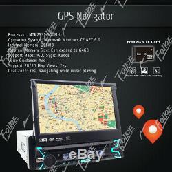 Car Stereo Radio HD DVD Player Bluetooth GPS Navigation with Map+Camera 1DIN USB