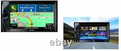 Clarion NX302E Autoradio 2DIN mit Navigation GPS TMC MP3 SD USB Bluetooth LCD