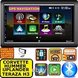 Corvette Hummer H3 7 Apple Carplay Android Auto Gps Nav Bluetooth Touchscreen