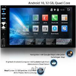 DAB+ AUTORADIO mit Navigation Bildschirm NAVI BLUETOOTH MP3 GPS Doppel 2 DIN