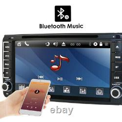 Double 2 Din 7 Touch Screen Bluetooth Car Stereo Radio GPS Navigation AUX IN FM